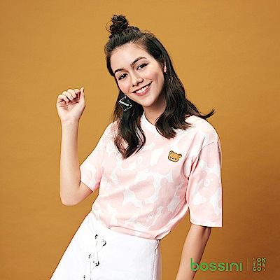 bossini女裝-拉拉熊系列印花短袖T恤05灰白