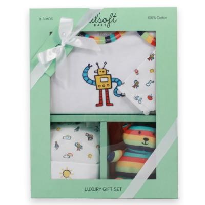 美國Elegant kids-彩色機器人3件式彌月禮盒