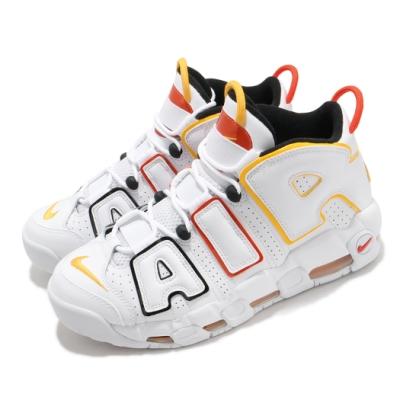 Nike 籃球鞋 Air More Uptempo 復古 男鞋 Raygun 外星人 大AIR 潮流穿搭 白 紅 DD9223100