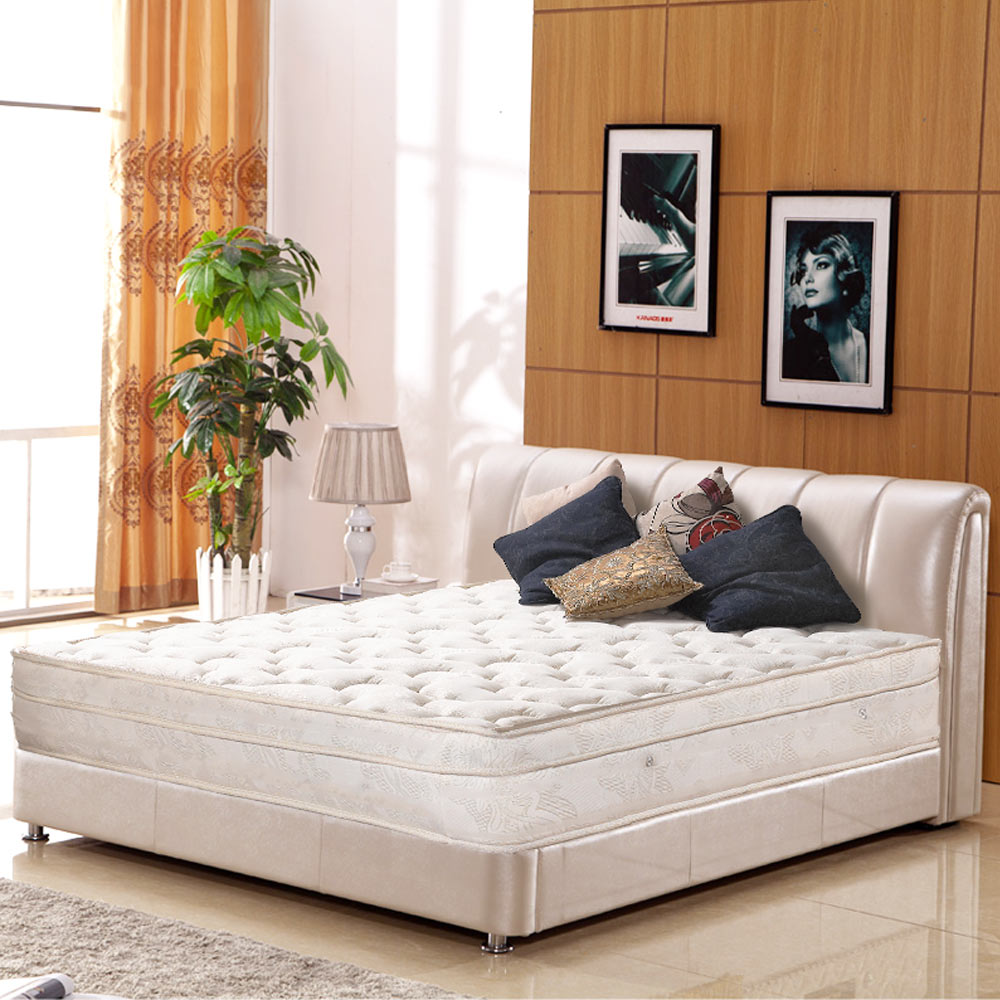 AVIS 艾維斯 勞倫斯緹花三線加厚束縛式獨立筒床墊-雙人加大6尺