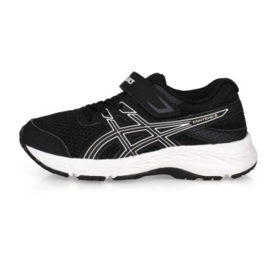ASICS 中童慢跑鞋 CONTEND 6 PS 黑白