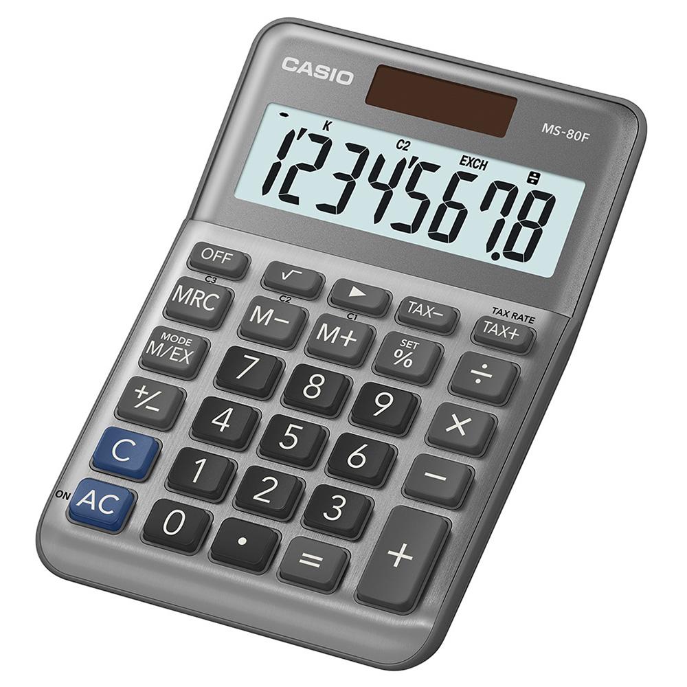 CASIO 8位數桌上小型計算機 (MS-80F)