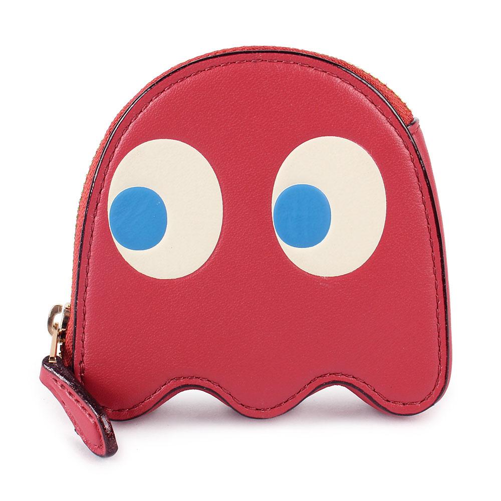 COACH PAC-MAN 小精靈造型皮革零錢包-紅色