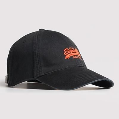 SUPERDRY 棒球帽 Orange Label 黑