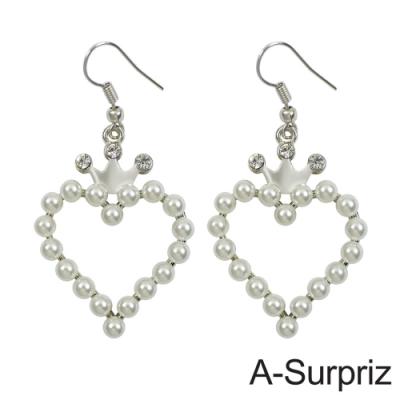 A-Surpriz 珍珠心戀晶鑽耳環