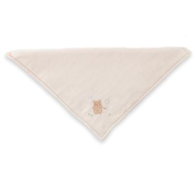 【Amorosa Mamma】有機棉嬰兒圍兜領巾口水巾-小熊