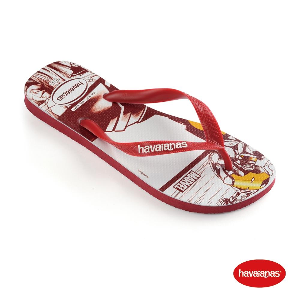 Havaianas哈瓦仕 拖鞋 夾腳拖 人字拖 巴西 男鞋 女鞋 紅 4139511-1440U Marvel 鋼鐵人 Top