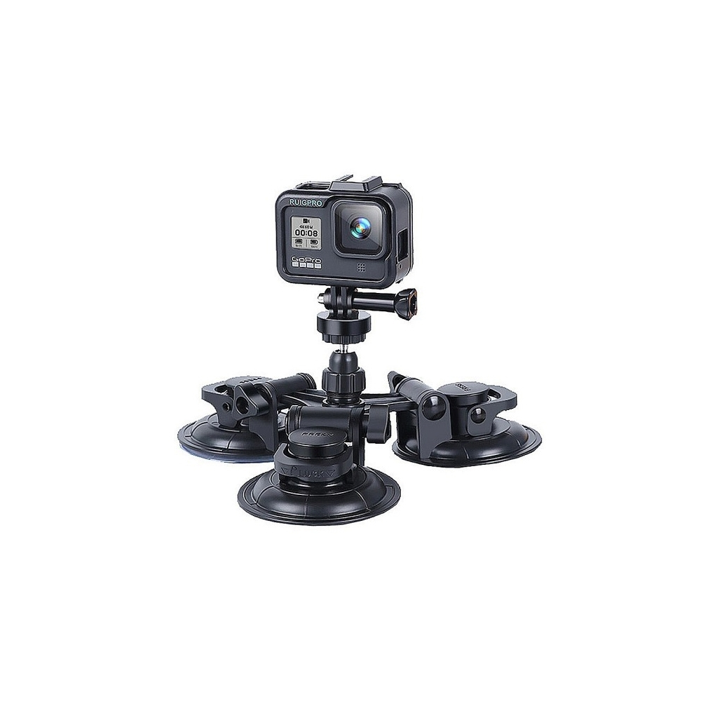 【LOTUS】頂級 運動相機 強力車用固定架 車載吸盤 副廠 GOPRO 大疆 小米 手機