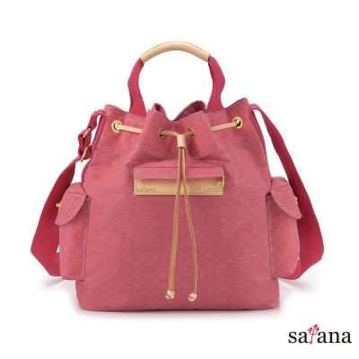 satana - 小抽繩水桶包 - 歡喜玫瑰