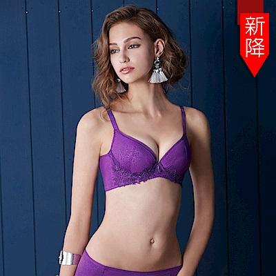 曼黛瑪璉 集中穩定V極線內衣  B-E罩杯(繡球紫)