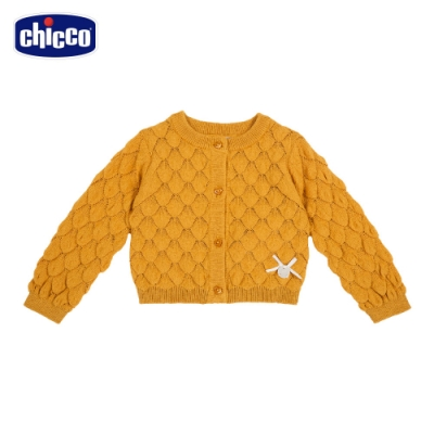 chicco-秋日童話-棉毛混紡鳳梨目針織外套
