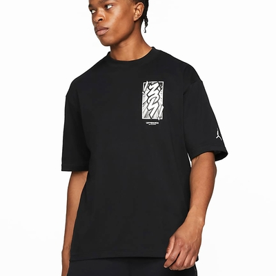 Nike  J ZION DF SS TEE 男短袖上衣-黑-DH0593010