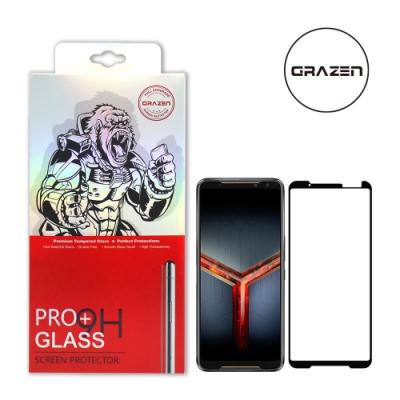 【格森GRAZEN】華碩ROG PHONE 2 / ZS660KL滿版(黑)鋼化玻璃