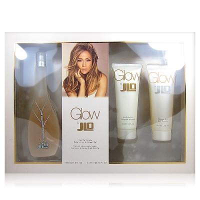 JENNIFER LOPEZ GLOW 淡香水100ML+乳液75ML+沐浴膠75ML 禮盒組