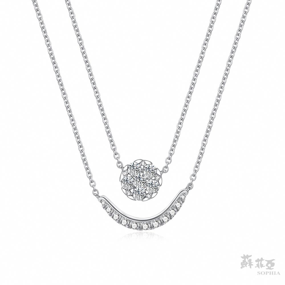 SOPHIA 蘇菲亞珠寶 - marisa瑪瑞紗 18K白金 鑽石項鍊