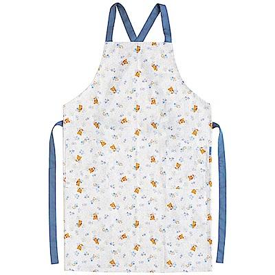 懶妹蜂蜜小熊的粉彩花園系列圍裙。藍  San-X