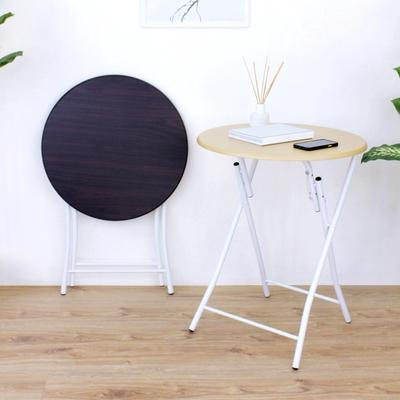 頂堅 耐重型-圓形折疊桌/洽談桌/便利餐桌/露營桌/拜拜桌/摺疊桌-附安全卡榫 二色