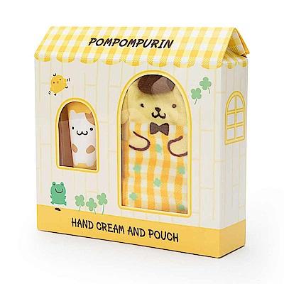 Sanrio 布丁狗香氛護手霜&玩偶造型收納袋禮盒組(蜜桃香)