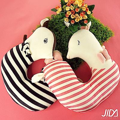 韓版 萌系動物絲棉填充U型枕(2款)