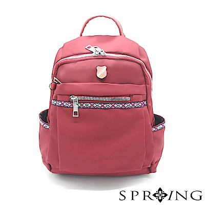 SPRING-微光澤輕量波西尼亞編織後背包-寶石紅