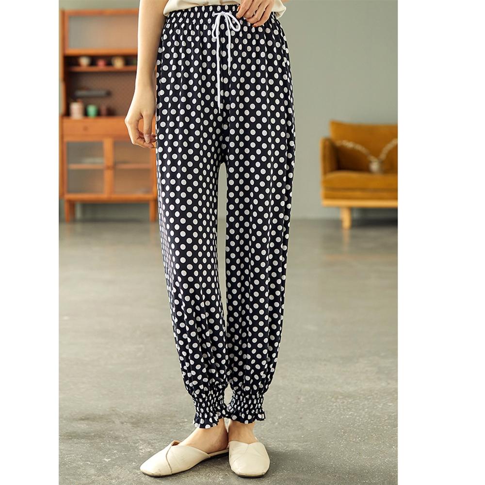 冰絲燈籠褲高腰防蚊褲垂感休閑褲二色可選-設計所在