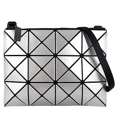 ISSEY MIYAKE 三宅一生BAOBAO三角方格3x4小型斜背包(銀)