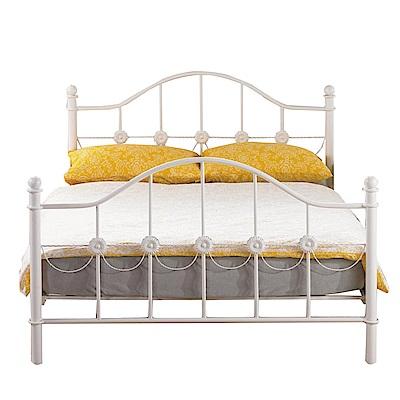 品家居 艾爾法5尺鐵製雙人床架(不含床墊)-160x202x115.5cm免組