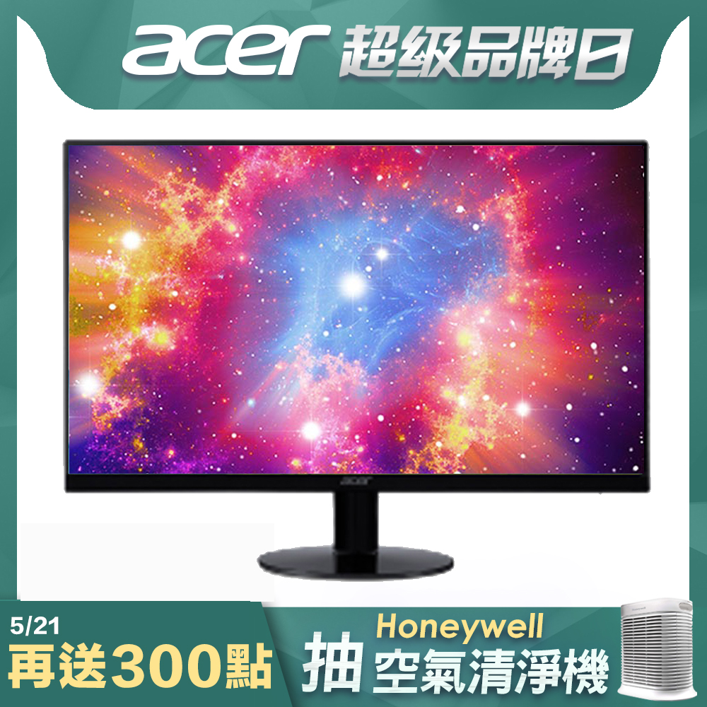 Acer SA240Y Abi 24型 IPS 薄邊框電腦螢幕 FreeSync防撕裂技術