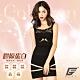 GIAT台灣製200D海藻胜肽膠原潤肌塑型內搭衣(蕾絲款)-黑色 product thumbnail 1
