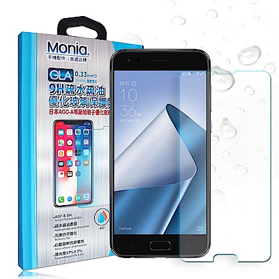 MONIA ASUS ZenFone 4 ZE554KL 日本疏水疏油9H鋼化玻璃膜