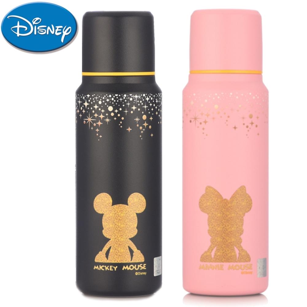【優貝選】迪士尼點點星空兩用保冷/保溫直飲式水壺(500ML)