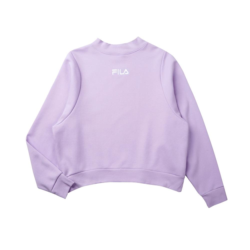 FILA #LINEA ITALIA 長袖圓領T恤-淺紫 5TET-5421-PL