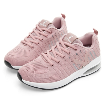 PLAYBOY 針織布氣墊輕量運動鞋-粉-Y573999