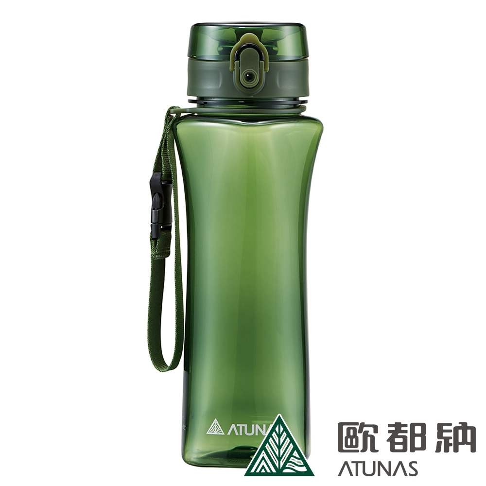 【ATUNAS 歐都納】玩美曲線Tritan運動水瓶/水壺/環保杯/彈蓋式/700ML/A1KTBB02N墨綠