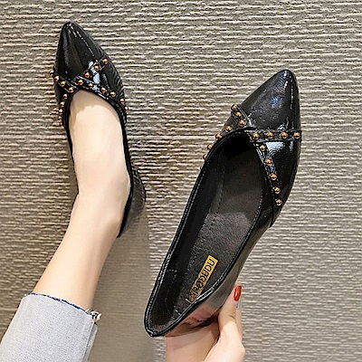 KEITH-WILL時尚鞋館 瘋搶簡單有型平底鞋-黑色