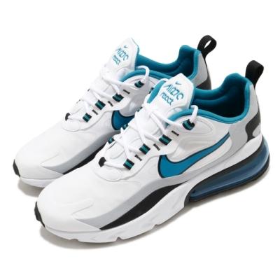 Nike 休閒鞋 Air Max 270 React 男鞋 氣墊 舒適 避震 簡約 球鞋 穿搭 白 藍 CT1280101