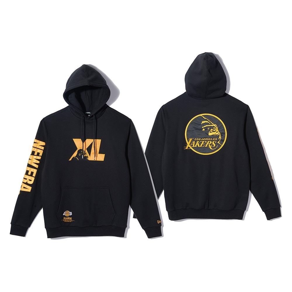 New Era x XLARGE x NBA 連帽T恤 湖人隊 黑