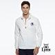 【Lynx Golf】男款防潑水內刷毛Lynx立體凸印長袖外套-牙白色 product thumbnail 2