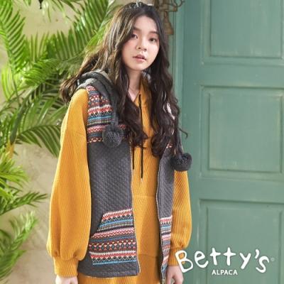 betty's貝蒂思 內鋪毛連帽背心外套(深灰)