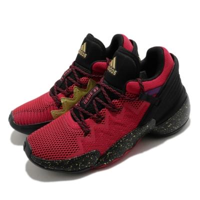 adidas 籃球鞋 D O N  ISSUE 2 女鞋 愛迪達 Bounce中底 NBA球星 大童 紅 黑 FZ1426