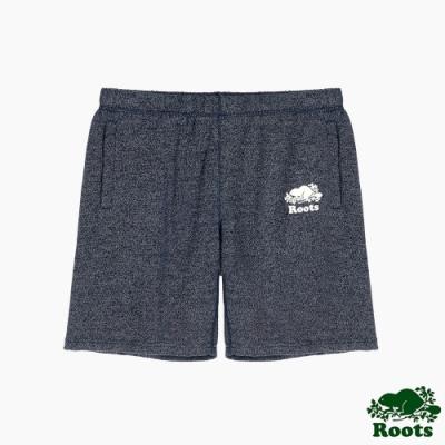 Roots 女裝- 經典五分休閒短褲-藍色