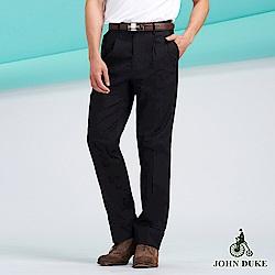 JOHN DUKE微正式修身長褲_黑(88-8A5008)