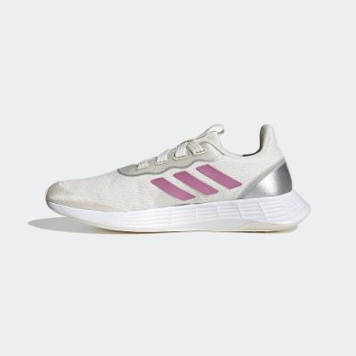 ADIDAS 慢跑鞋 運動鞋 緩震 訓練  女鞋 米白 QT RACER SPORT FY5679