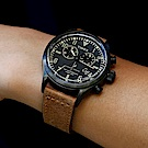 TIMEX xTODD SNYDER聯名限量Waterbury雙眼計時腕錶-棕黑/42mm