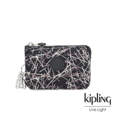 Kipling 英式粉漆塗鴉三夾層配件包-CREATIVITY S