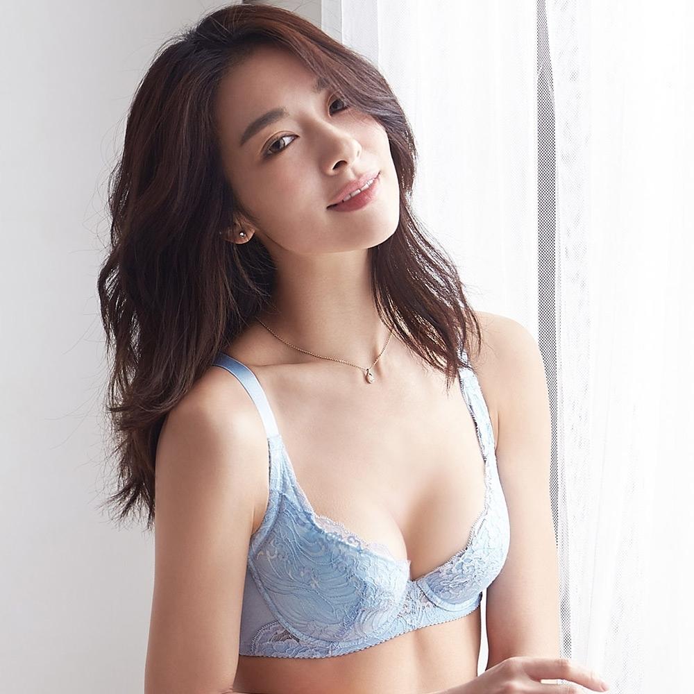 蕾黛絲-超值嚴選 清秀佳人 B-E罩杯內衣 典雅藍