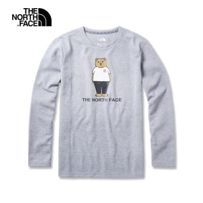 The North Face北面男款灰色吸濕排汗透氣針織上衣 3VU2X8A