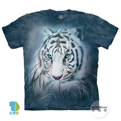 摩達客-預購-美國進口The Mountain 深思白虎 兒童版純棉環保藝術中性短袖T恤