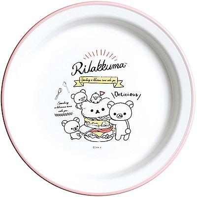 拉拉熊洋食漢堡店系列微波盤。粉 San-X