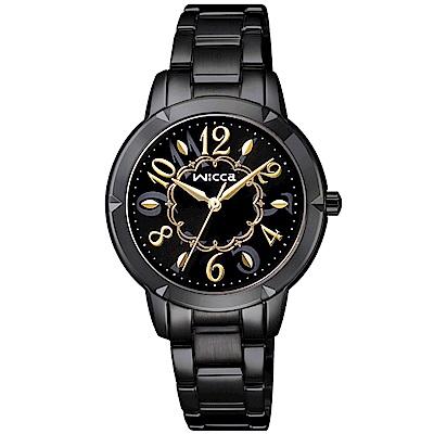 CITIZEN WICCA花漾時尚手錶(BT2-742-51)-黑/30mm